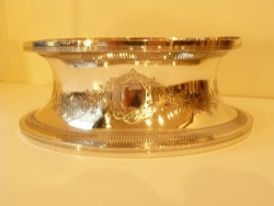 Old Sheffield Plate Oval Dish Ring